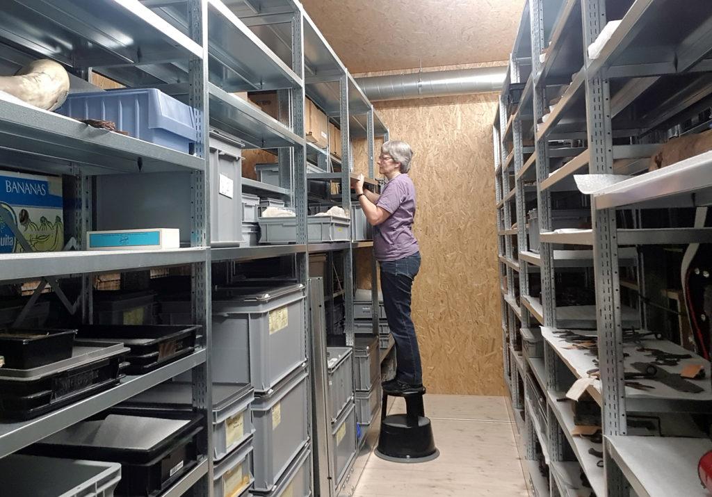 Klara Spichtig im neuen Archiv des Historischen Museums Obwaldens.